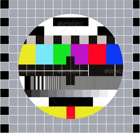 Test pattern RGB. Test Card. Technical Break - Retro Technology