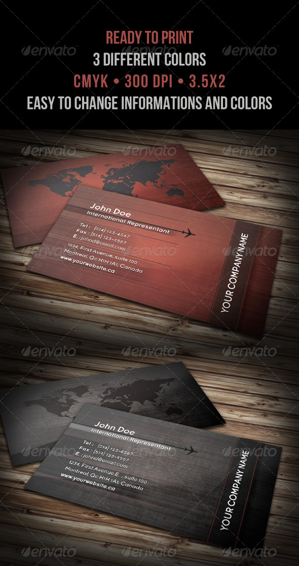 International Modern Business Card - Corporate Business Cards