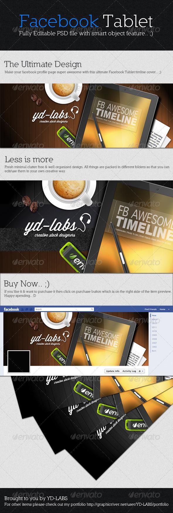 Facebook Tablet - Facebook Timeline Covers Social Media