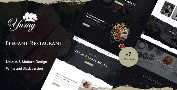 Yumy – Restaurant & Food HTML Template
