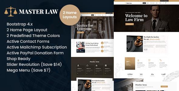 Masterlaw – Attorney HTML Template