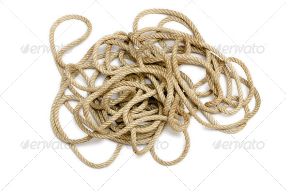 Mess Rope  - Stock Photo - Images