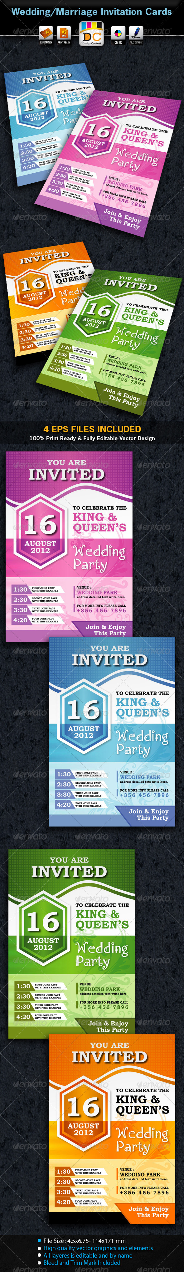 MB_Wedding/Marriage Invitation Card Sets - Weddings Cards & Invites
