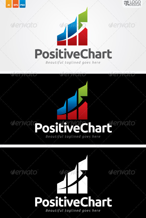 Positive Chart - Symbols Logo Templates