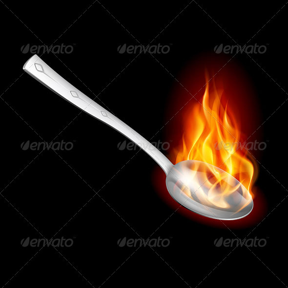Spoon with Fire - Backgrounds Business
