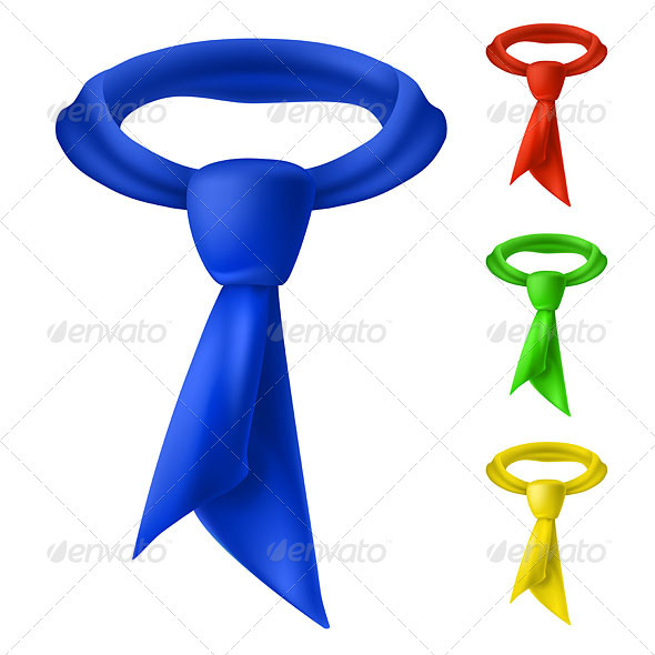 Four colorful tie. - Backgrounds Business