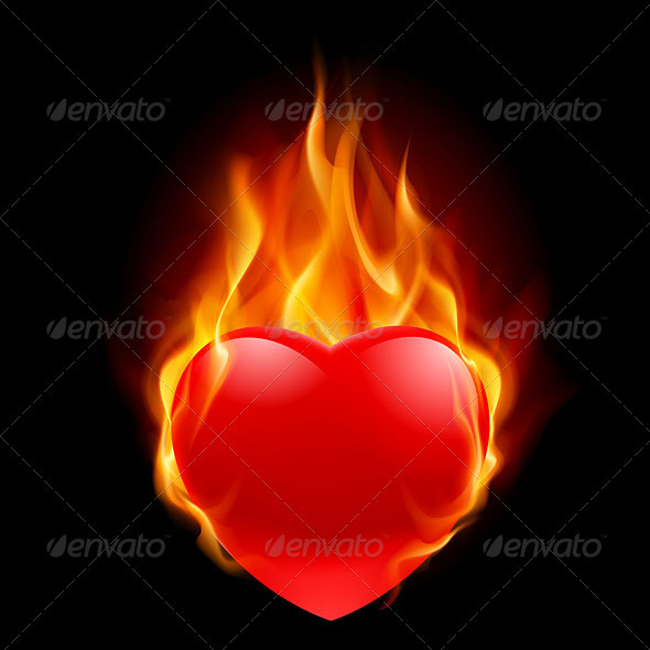 Burning Heart - Tattoos Vectors