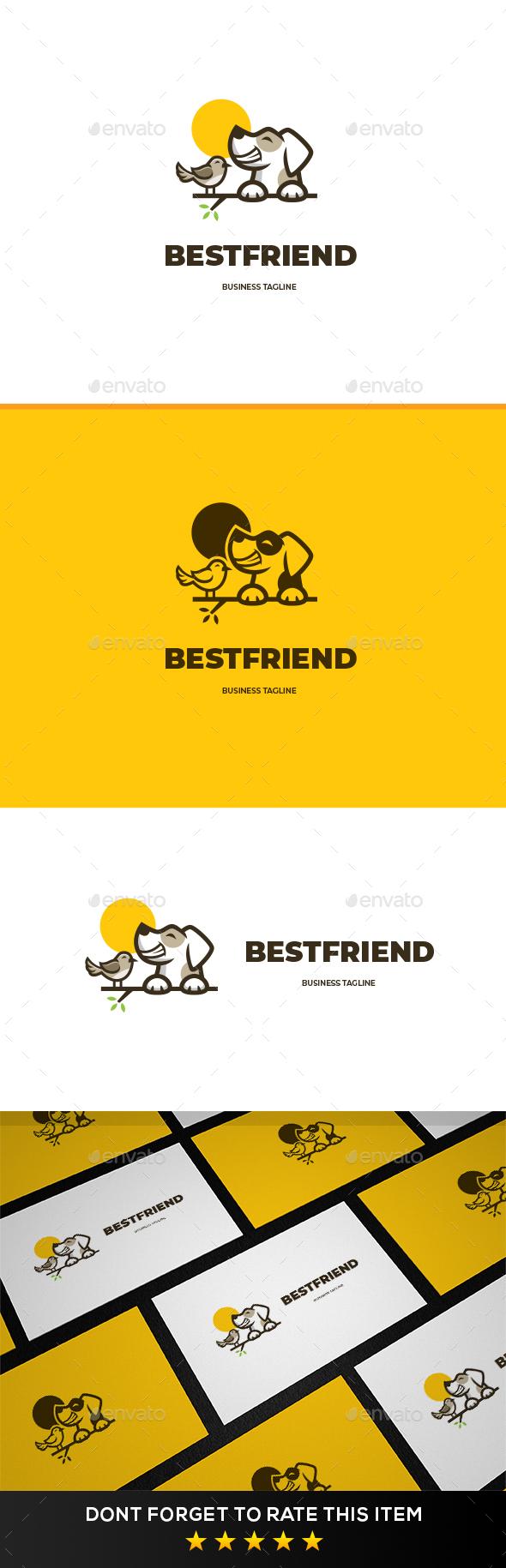 Dog & Bird Logo Template