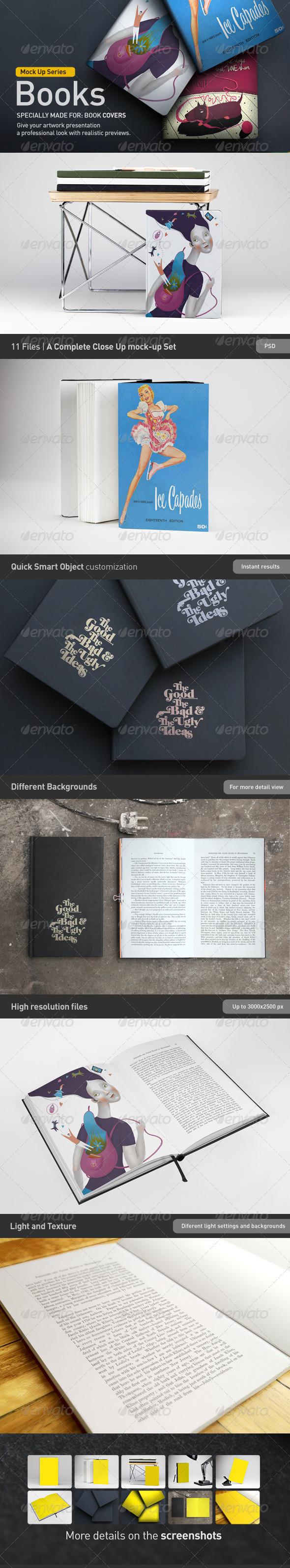 Book   Brochure Mock-Up  - Books Print