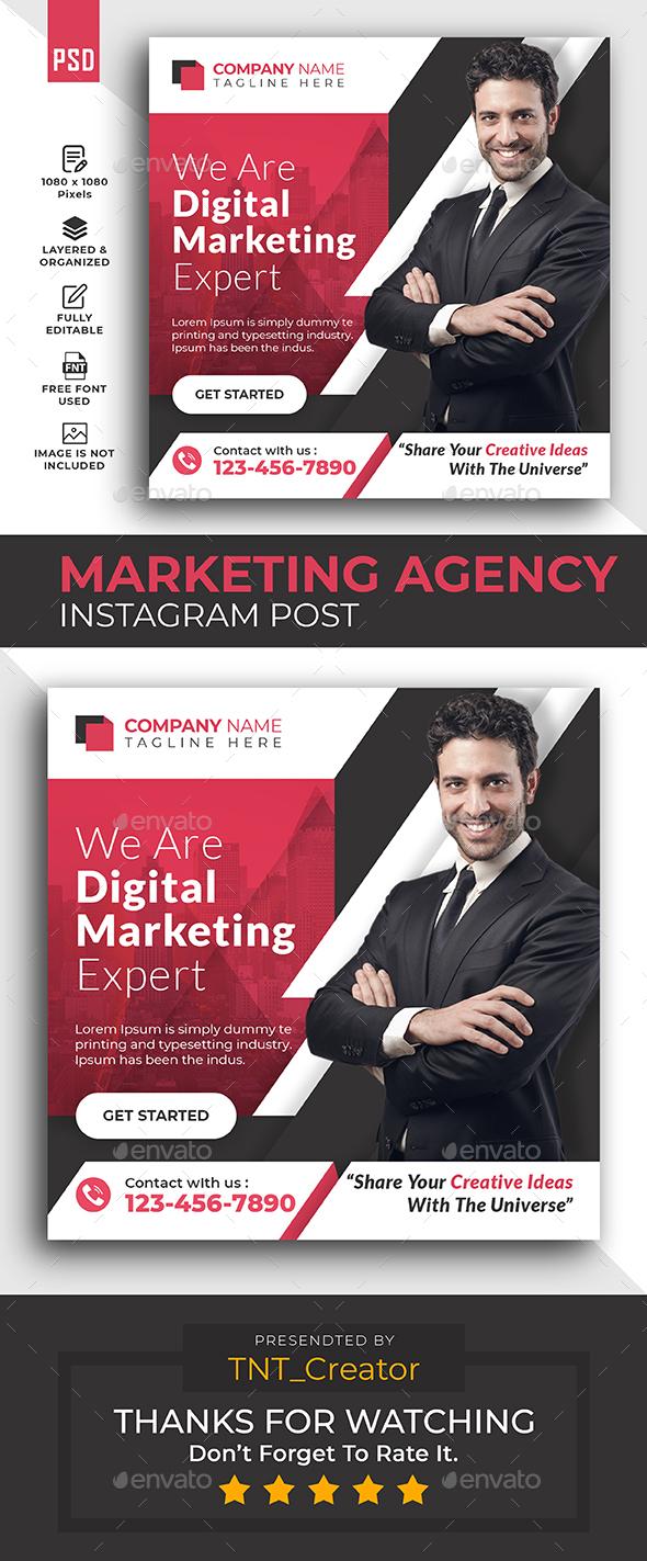 Digital Marketing Agency Promotion Instagram post