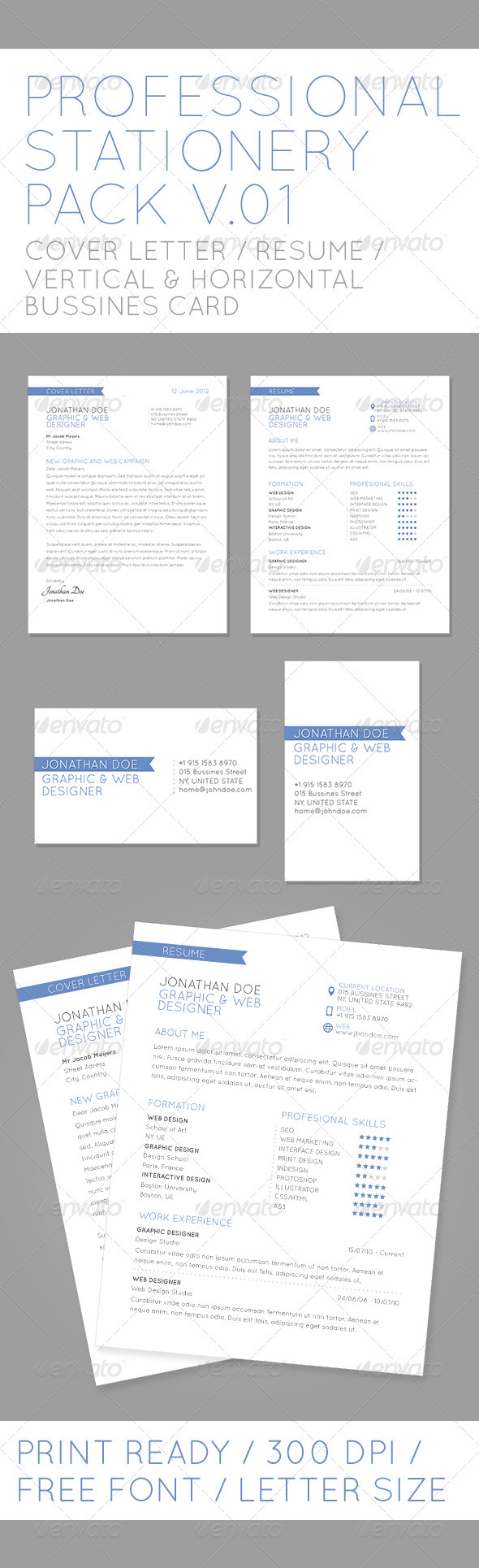 Profesional Stationery Pack V01 - Stationery Print Templates