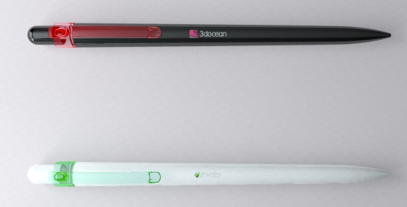 Ultra Detailed Realistic Ball-Point Pens - 3DOcean Item for Sale
