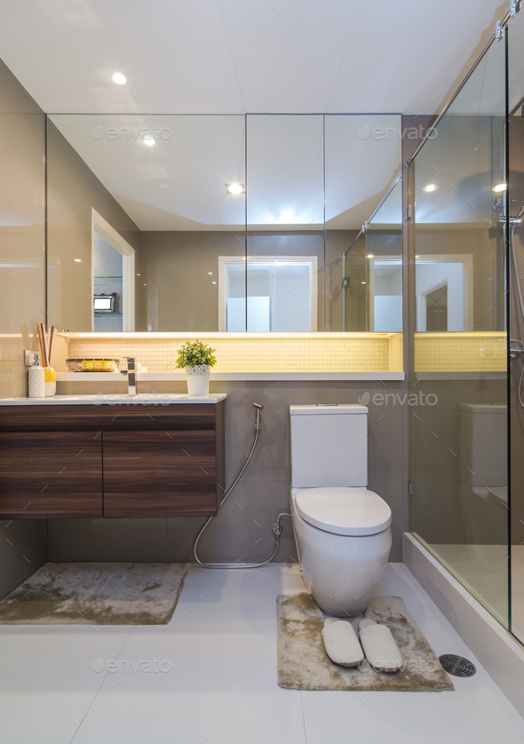 Luxury Interior bathtoom - Stock Photo - Images