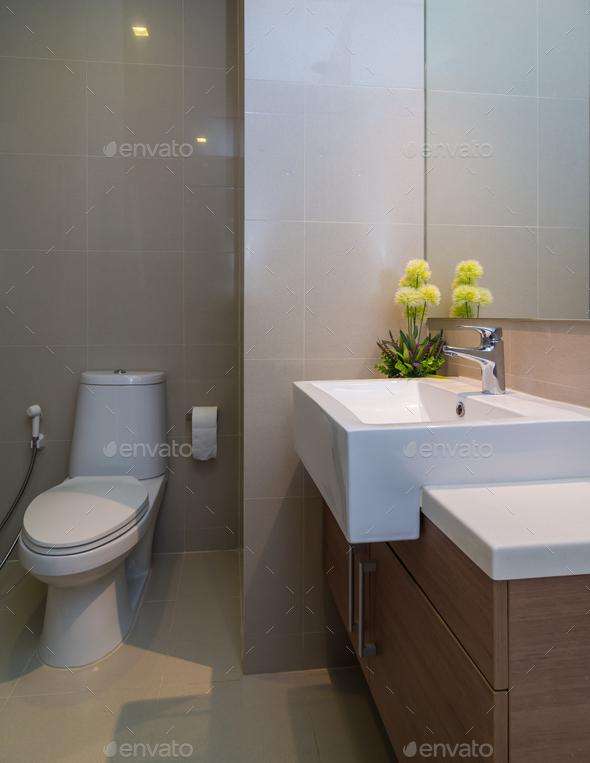 Luxury Interior bathroom - Stock Photo - Images