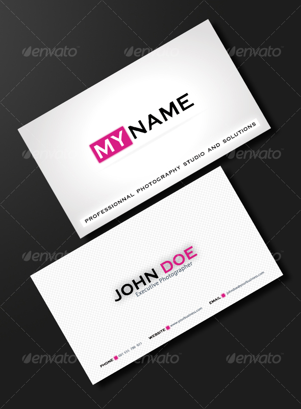 PURE & CLEAN BUSINESS CARD - Corporate Business Cards