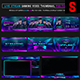 Cyber Players Live Stream Gaming Video Thumbnail / Banner Overlay Photoshop Templates