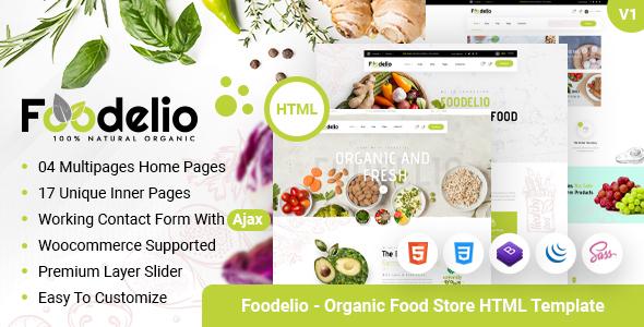 Foodelio – Organic Food Store HTML Template