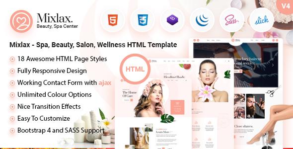 Mixlax- Spa Beauty Salon HTML Template