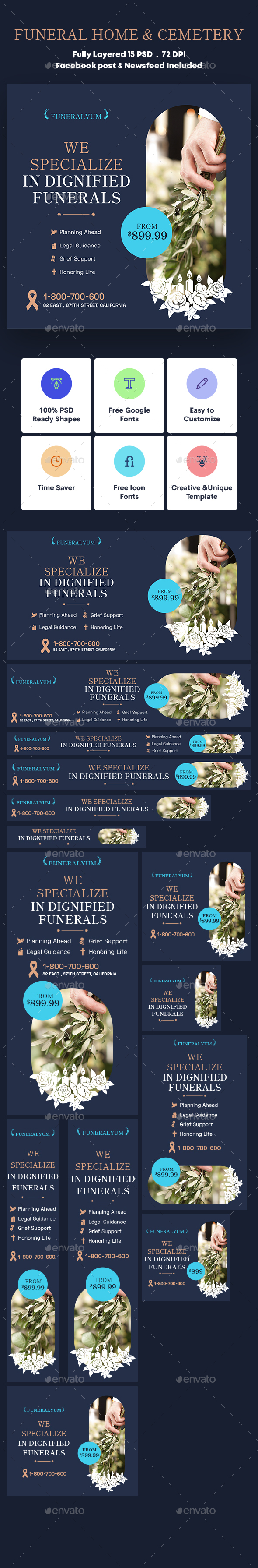 Funeral Home & Cemetery Banners Ad