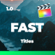 Fast and Stylish Titles For FCPX - VideoHive Item for Sale
