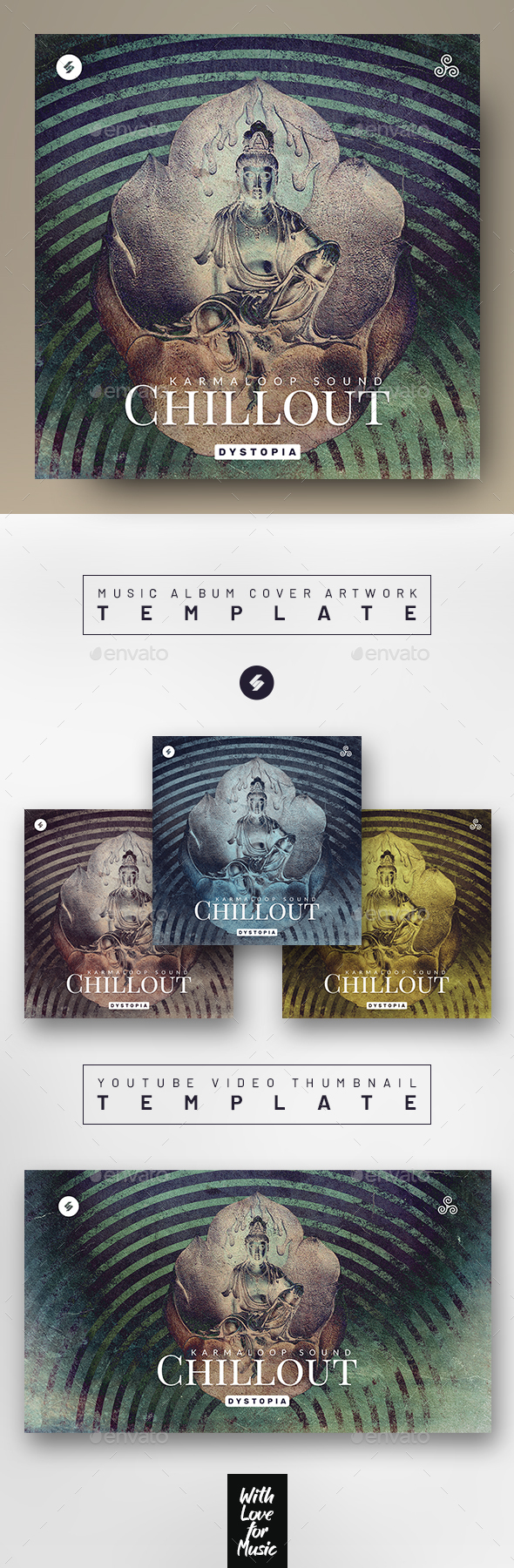 Chillout Music Album Cover / Youtube Thumbnail Template