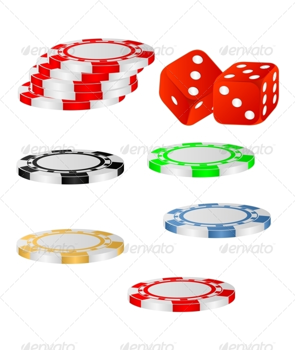 Playing chips. - Objects Vectors