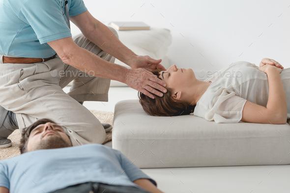 Healing the heaache - Stock Photo - Images
