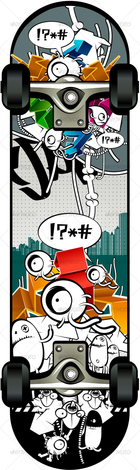 Skateboard - Characters Vectors