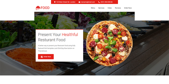 Food - resturant and food landing page