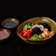 Poke bowl with fresh fish and vegetable, dark background copyspace - PhotoDune Item for Sale