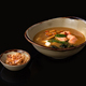 miso soup with tofu and salmon, copy space - PhotoDune Item for Sale