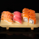 Sushi set. Rolls with salmon eel red caviar and vegetables on black background - PhotoDune Item for Sale