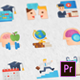 Online Course Modern Flat Animated Icons – Mogrt - VideoHive Item for Sale