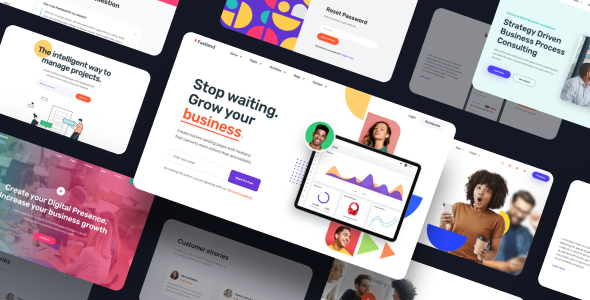Fastland - Landing Page Template for SaaS, Startup & Agency