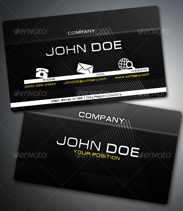 +Modern Business Card - Corporate Business Cards