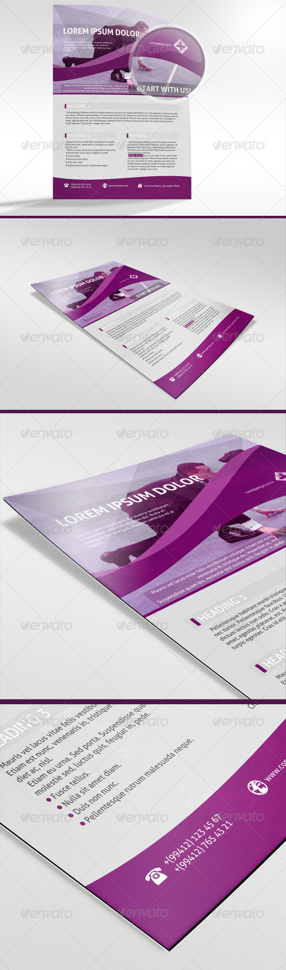 Super-Clean Corporate Flyer - Corporate Flyers