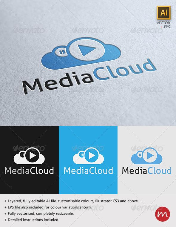 """MediaCloud"" Logo Template - Symbols Logo Templates"