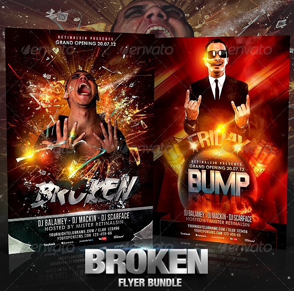 Broken Flyer Bundle - Flyers Print Templates