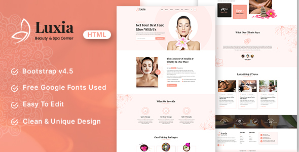 Luxia – Beauty & Spa Center HTML Template