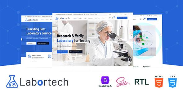 Labortech – Laboratory & Science Research HTML5 Template