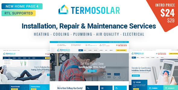 Super Termosolar - Installation, Repair & Maintenance Services HTML Template