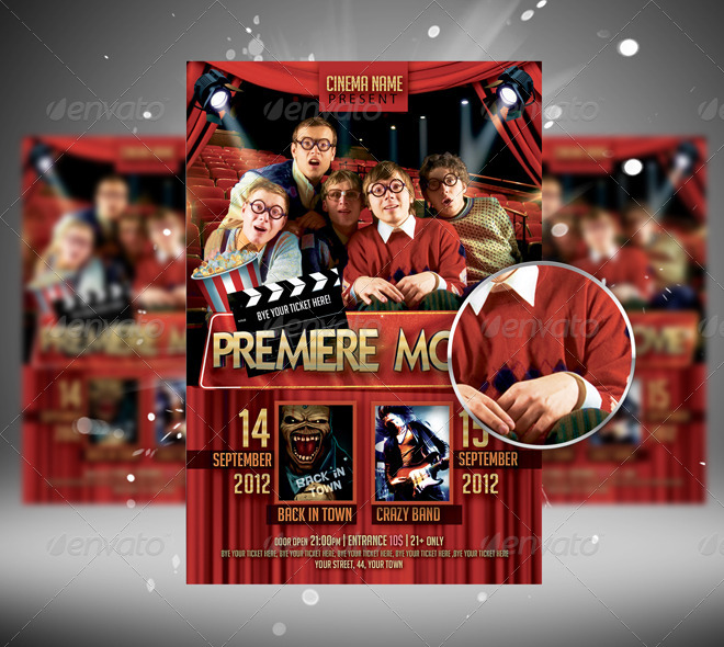 Premiere Movie Flyer Template By Newentrydesign  Graphicriver