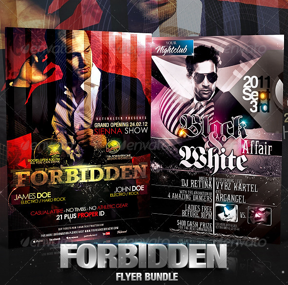 Forbidden Flyer Bundle - Clubs & Parties Events
