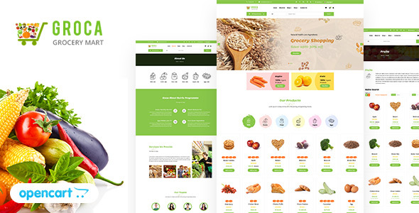 Groca - Grocery, Super Market OpenCart Theme