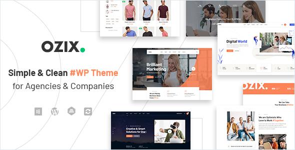 Ozix - Agencies and Companies WordPress Theme