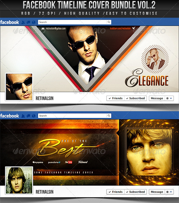 Facebook Timeline Cover Bundle Vol.2 - Facebook Timeline Covers Social Media