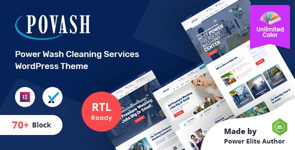 Download Povash | Power Wash  WordPress Theme Free Nulled