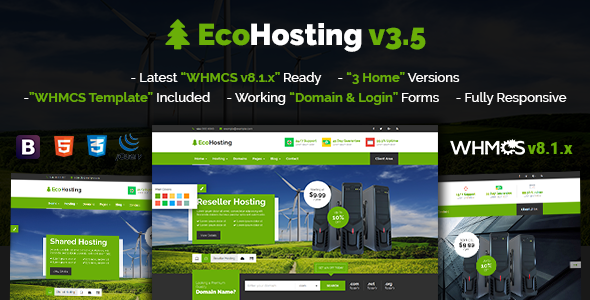 Top EcoHosting | Responsive HTML5 Hosting and WHMCS Template