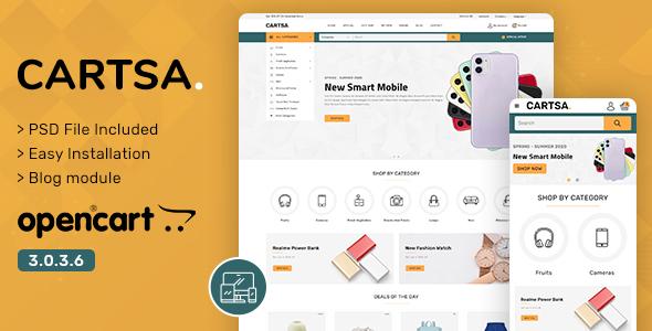 Cartsa - Multipurpose OpenCart Theme