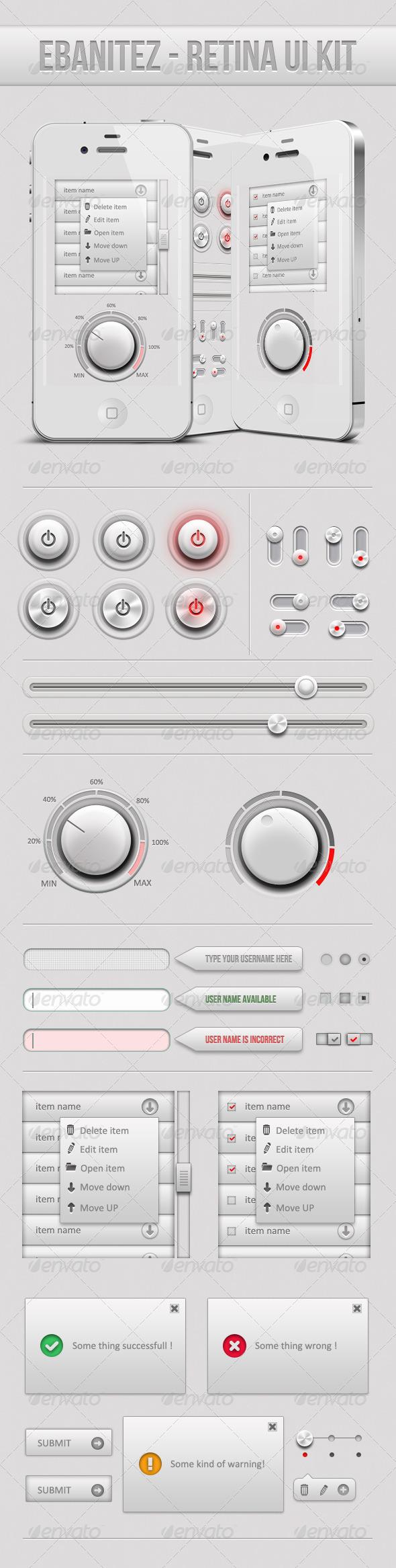 Ebanaitez - Simple Retina Ui Elements  - User Interfaces Web Elements